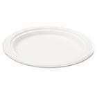 "Bagasse 7"" Plate, Round, White, 50/Pack SVAP002"