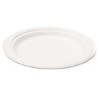 "Bagasse 10"" Plate, Round, White, 50/Pack SVAP005"