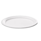 "Bagasse Oval Plate, 9"" x 6 1/2"", White, 125/Pack SVAP009"