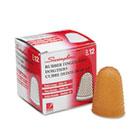 Rubber Finger Tips, Size 14, X-Large, Amber, 1/Dozen SWI54014