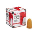 Rubber Finger Tips, Size 11, Small, Amber, 1/Dozen SWI54031