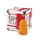 Rubber Finger Tips, Size 13, Large, Amber, 1/Dozen SWI54033