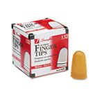 Rubber Finger Tips, Size 11 1/2, Medium, Amber, 1/Dozen SWI54035