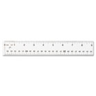 "See Through Acrylic Ruler, 18"", Clear ACM10564"