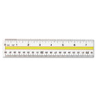 "Acrylic Data Highlight Reading Ruler With Tinted Guide, 15"" Clear ACM10580"