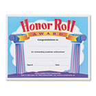 Honor Roll Award Certificates, 8-1/2 x 11, 30/Pack TEPT2959