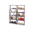 "Industrial Steel Shelving for 87"" High Posts, 48w x 24d, Medium Gray, 6/Carton TNN6Q24824MGY"