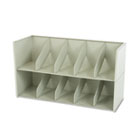 Add-A-Stack Shelving System Two-Shelf Filing Tier, 36w x 13-3/16d x 10h, Gray TNNAS36LLGY