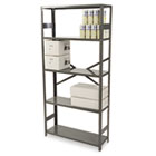 Commercial Steel Shelving, Five-Shelf, 36w x 12d x 75h, Medium Gray TNNESP1236MGY