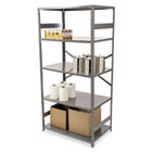 Commercial Steel Shelving, Five-Shelf, 36w x 24d x 75h, Medium Gray TNNESP2436MGY
