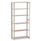 Regal Shelving Add-On Unit, Six-Shelf, 36w x 12d x 76h, Sand TNNRGL1236ASD