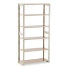 Regal Shelving Add-On Unit, Six-Shelf, 36w x 15d x 76h, Sand TNNRGL1536ASD