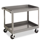 Two-Shelf Metal Cart, 24w x 36d x 32h, Gray TNNSC2436