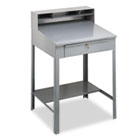 Open Steel Shop Desk, 34-1/2w x 29d x 53-3/4h, Medium Gray TNNSR57MG