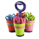 "School Scissor Caddy and 24 Kids Scissors With Microban, 5"" Blunt ACM14756"