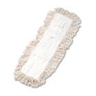 Unisan Industrial Dust Mop Head, Hygrade Cotton, 24w x 5d, White UNS1324