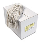 Premium Cut-End Wet Mop Heads, Cotton, 24oz, White, 12/Carton UNS224CCT