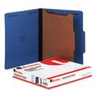 Classification Folders, Letter Size, 4 Section, 1 Divider, Cobalt Blue Pressboard, Top Tab,  10/Box UNV10201