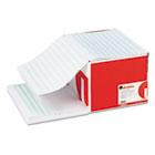 Green Bar Computer Paper, 20lb, 14-7/8 x 11, Perforated Margins, 2400 Sheets UNV15852