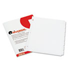 Write-On/Erasable Indexes, Eight White Tabs, Letter, White, 8/Set UNV20818