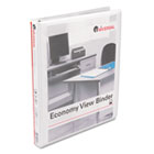"Round Ring Economy Vinyl View Binder, 1/2"" Capacity, White UNV20952"