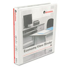 "Round Ring Economy Vinyl View Binder, 1"" Capacity, White UNV20962"