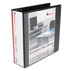 "Round Ring Economy Vinyl View Binder, 3"" Capacity, Black UNV20991"