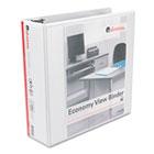 "Round Ring Economy Vinyl View Binder, 3"" Capacity, White UNV20992"