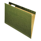 Reinforced Recycled Hanging Folders, Legal Size, 1/5 Tab, Standard Green, 25/Box UNV24215