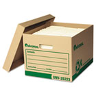 Recycled Record Storage Box, Letter/Legal, 12 x 15 x 10, Kraft, 12/Carton UNV28223