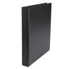 "Suede Finish Vinyl Round Ring Binder, 1"" Capacity, Black UNV31401"