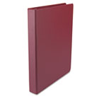 "Round Ring Binder, Suede Finish Vinyl, 1"" Capacity, Burgundy UNV31406"