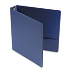 "Suede Finish Vinyl Round Ring Binder, 1-1/2"" Capacity, Royal Blue UNV33402"