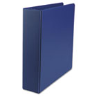 "Suede Finish Vinyl Round Ring Binder, 2"" Capacity, Royal Blue UNV34402"