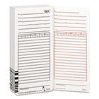 Time Card for Es1000 Electronic Totalizing Payroll Recorder, 100/Pack ACP099111000