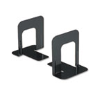 Economy Bookends, Nonskid, 4 3/4 x 5 1/4 x 5, Heavy Gauge Steel, Black UNV54055