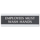 Century Series Office Sign, Employees Must Wash Hands, 9 x 3 USS4782
