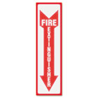 Glow In The Dark Sign, 4 x 13, Red Glow, Fire Extinguisher USS4793