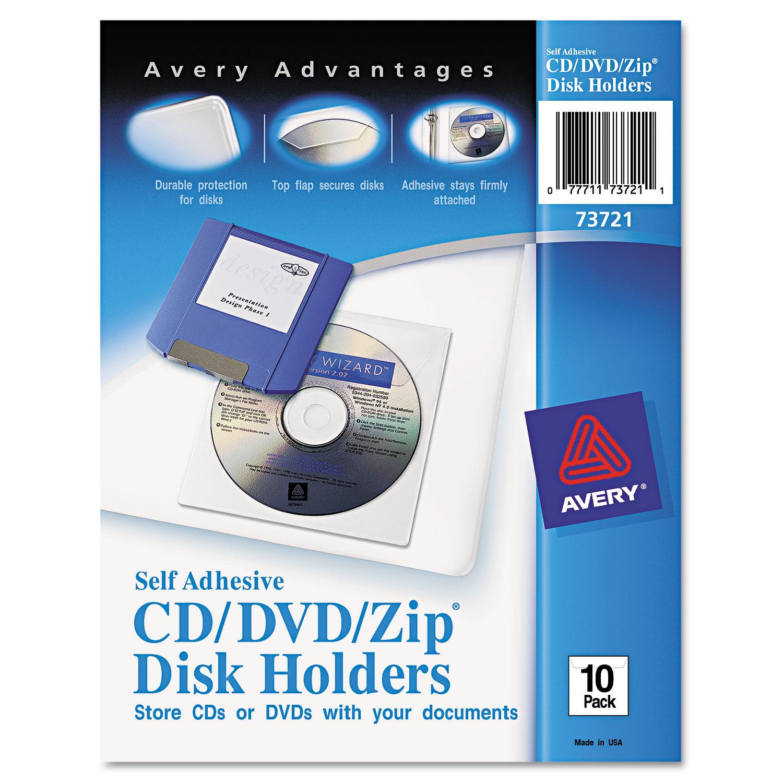 HOLDER,CD/DVD ADHSVE,CLR