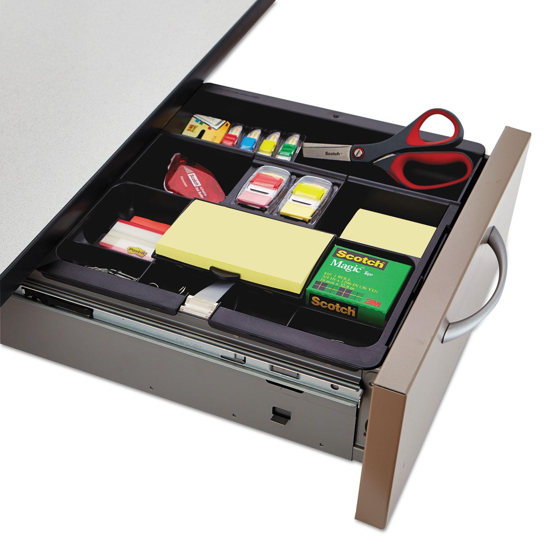 recycled plastic desk drawer organizer tray plastic black boss rh abcboss com  office desk drawer organizer uk