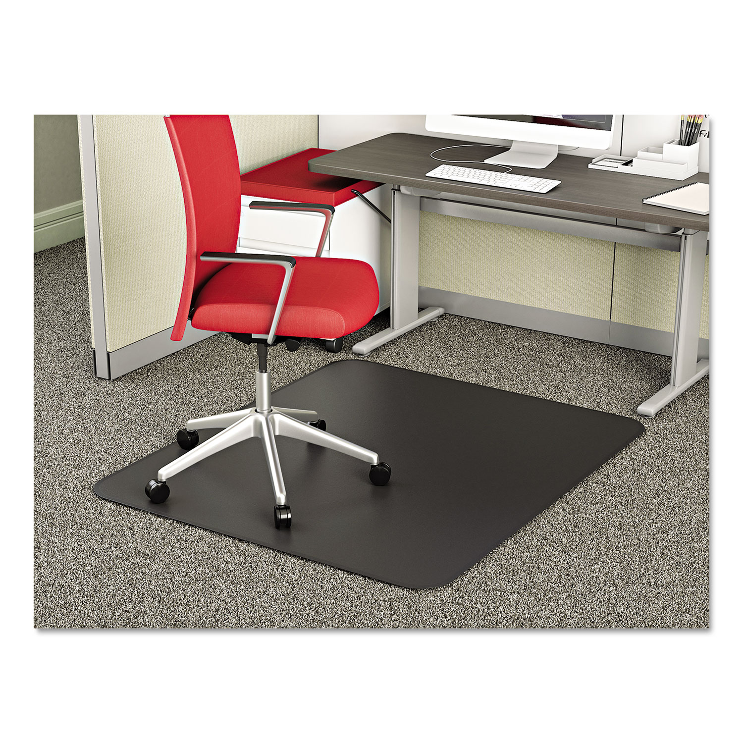Supermat Frequent Use Chair Mat For Medium Pile Carpet 36 X 48