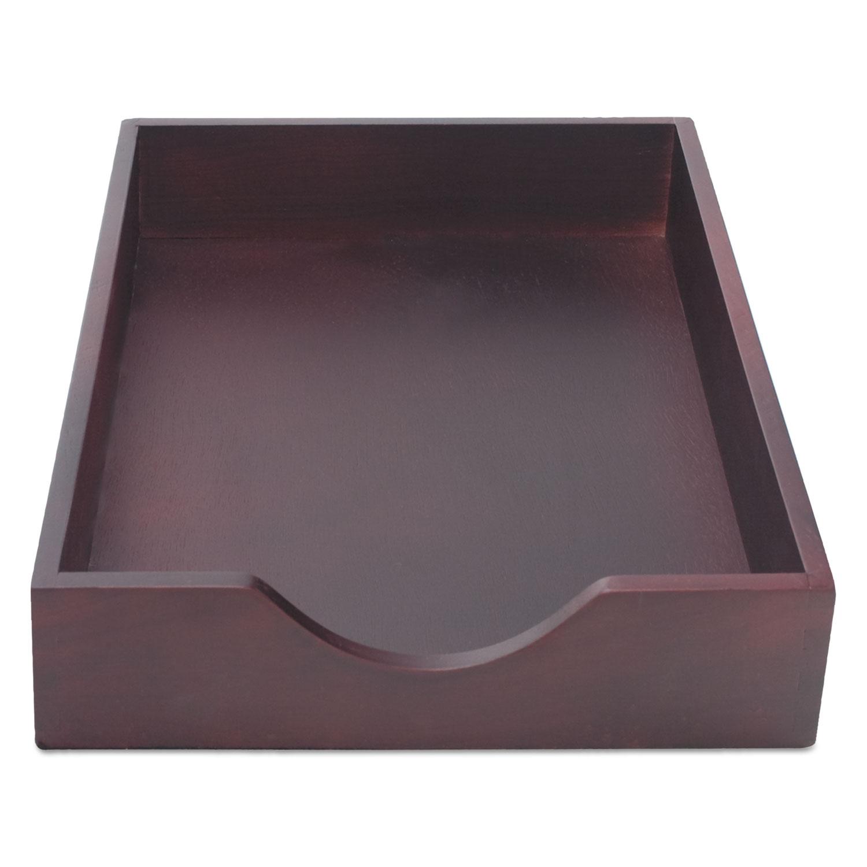 Hardwood Legal Stackable Desk Tray, Mahogany CVR07223