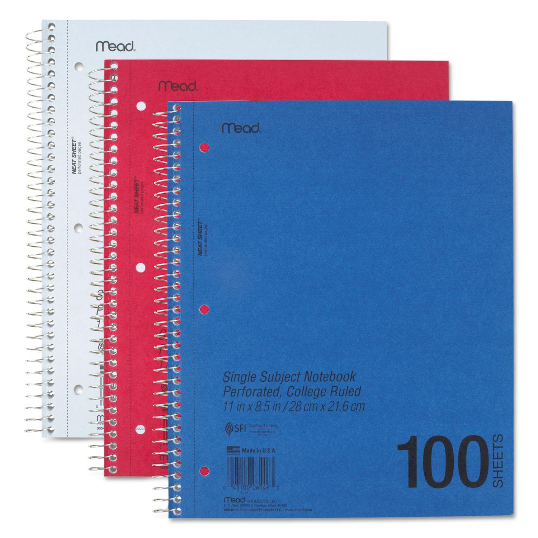 Durapress Cover Notebook 1 Subject Medium College Rule