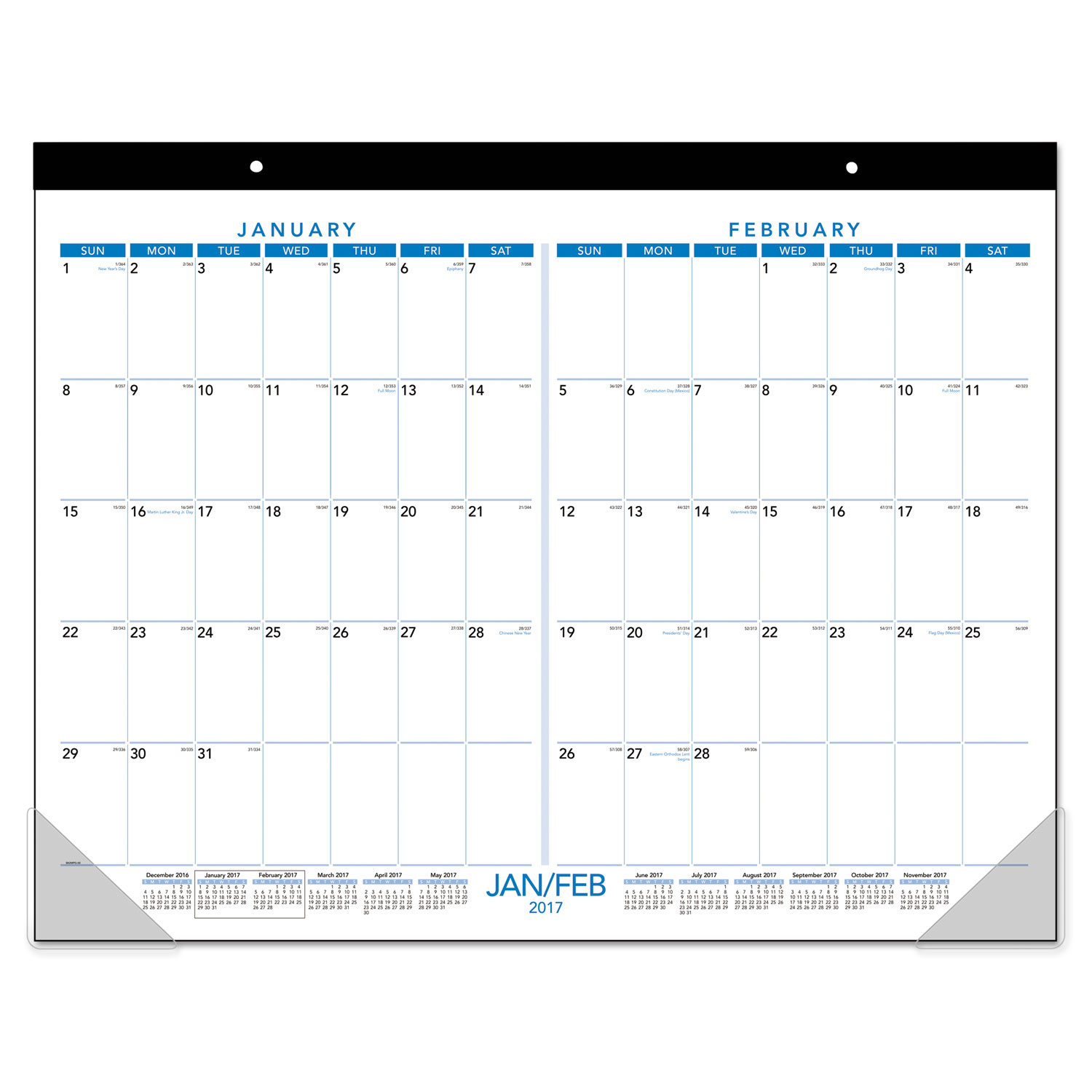 Two Months Per Page Desk Pad by AT-A-GLANCE® AAGSK2MPG00 ...