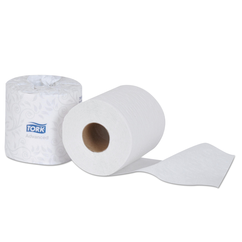 Tork Advanced Bath Tissue, 2-Ply, White, 500 Sheets Roll, 48 Rolls Carton