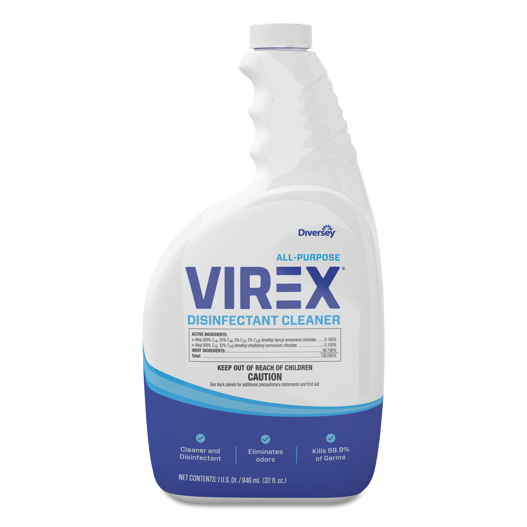 Diversey Virex All-Purpose Disinfectant Cleaner, Lemon Scent