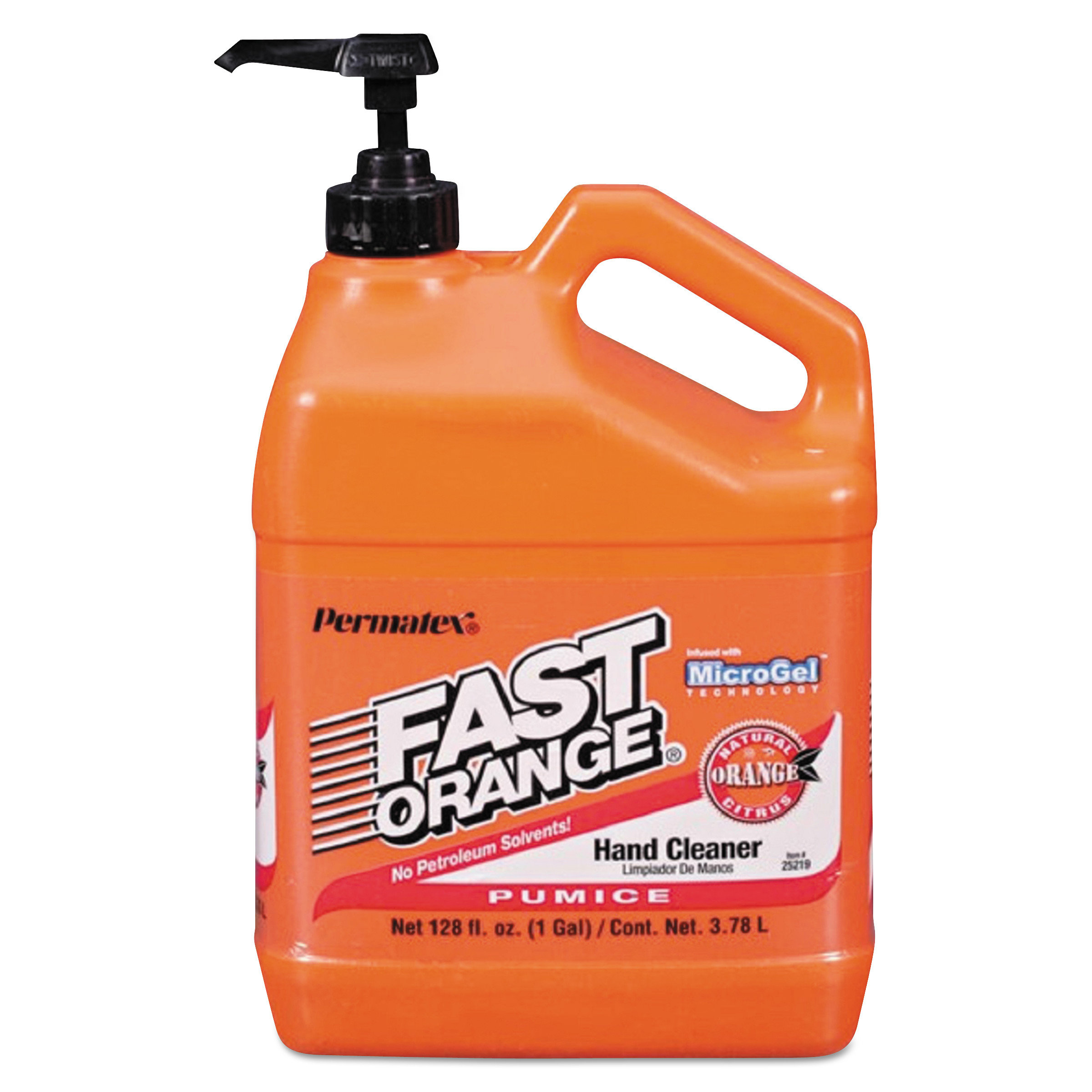 Permatex 1 Gallon Fast Orange Pumice Lotion Hand Cleaner  25