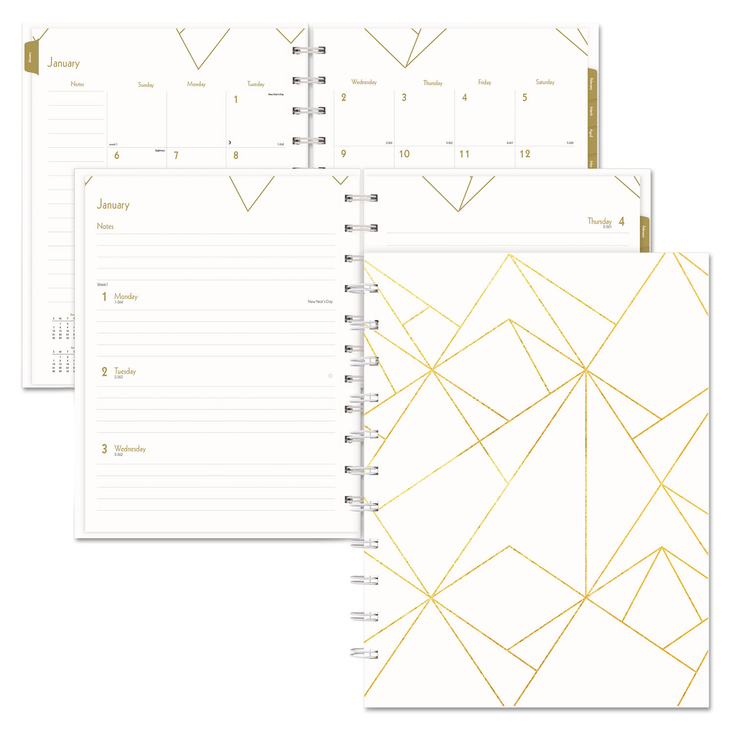 Blueline Gold Collection Weekly/Monthly Planner 11 x 9 3/5 W
