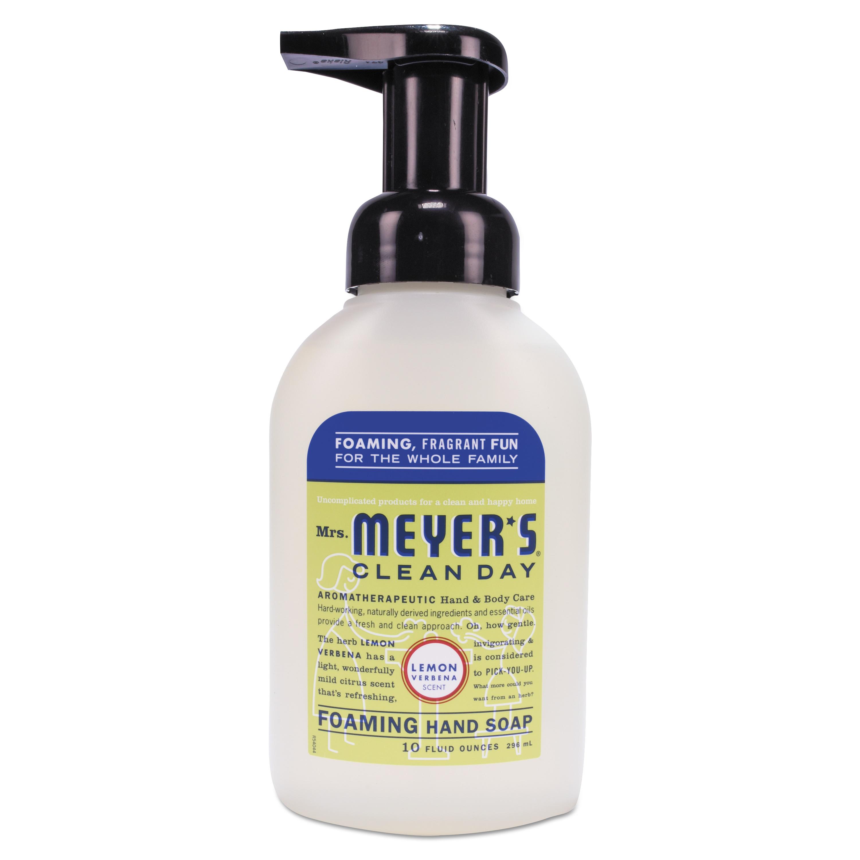 Mrs. Meyer's Foaming Hand Soap, Lemon Verbena, 10 oz, 6/Cart