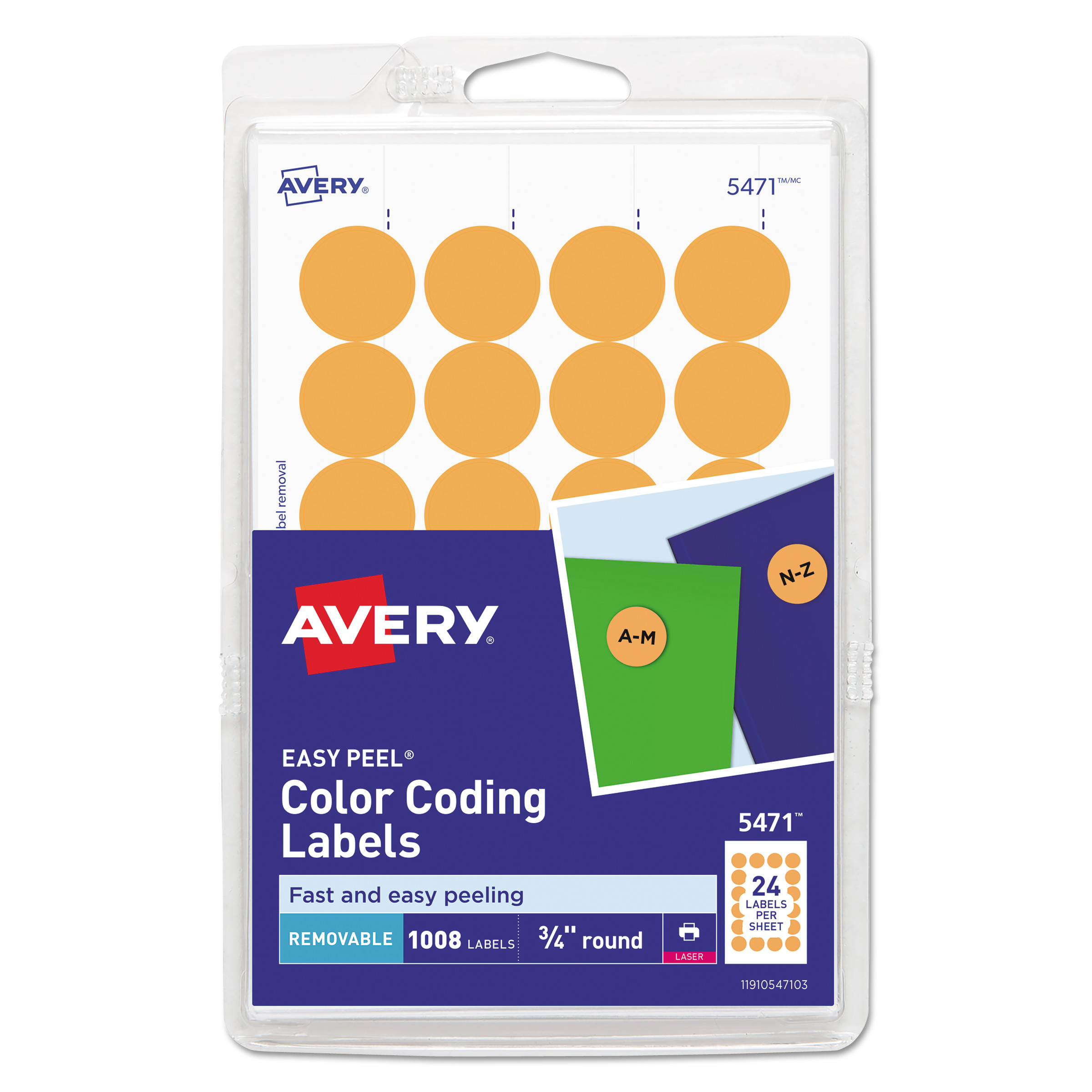 picture about Printable Labels Sheets identified as Printable Self-Adhesive Detachable Colour-Coding Labels, 0.75